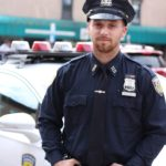 Police man standing