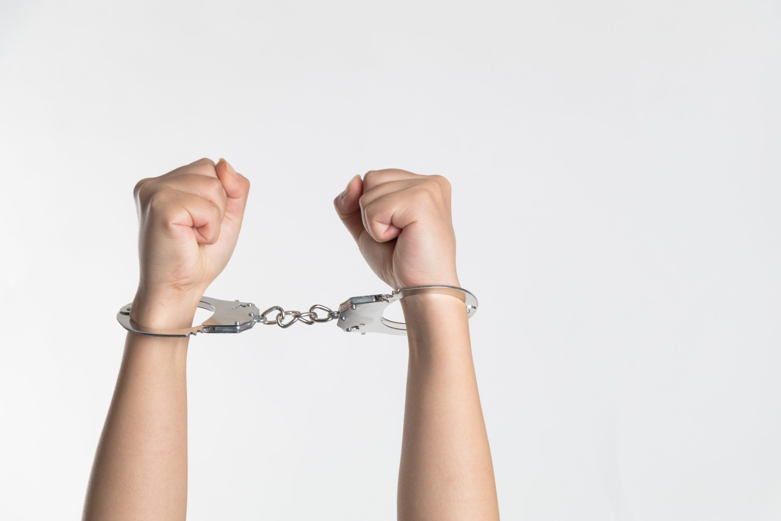 arrested handcuffs